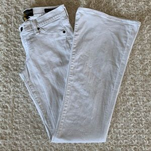 Lucky Brand charlie flare white jean